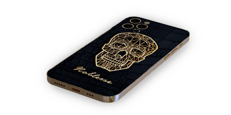 NOBLESSE GOLD SKULL PLATED 12 PRO & PRO MAX